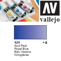 ACUARELA LIQUIDA VALLEJO  '420' AZUL REAL 32ml.