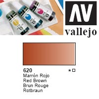 ACUARELA LIQUIDA VALLEJO  '620' MARRON ROJO 32ml.