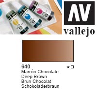 ACUARELA LIQUIDA VALLEJO  '640' MARRON CHOCOLATE 32ml.
