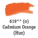 TUBO 8ml. ACUARELA 'AQUAFINE 619' CADMIUM ORANGE (IMITACIÓN)