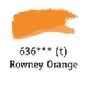 TUBO 8ml. ACUARELA 'AQUAFINE 636' ROWNEY ORANGE