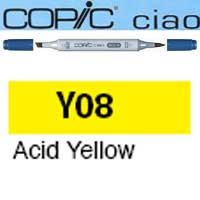 ROTULADOR <b>COPIC CIAO 'Y08' ACID YELLOW</b>
