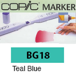 ROTULADOR <b>COPIC MARKER 'BG18' TEAL BLUE</b>