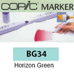 ROTULADOR <b>COPIC MARKER 'BG34' HORIZON GREEN</b>