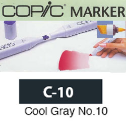 ROTULADOR <b>COPIC MARKER 'C10' COOL GRAY</b>