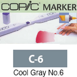 ROTULADOR <b>COPIC MARKER 'C06' COOL GRAY</b>