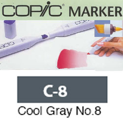 ROTULADOR <b>COPIC MARKER 'C08' COOL GRAY</b>