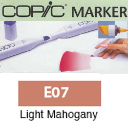 ROTULADOR <b>COPIC MARKER 'E07' LIGHT MAHOGANI</b>