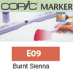 ROTULADOR <b>COPIC MARKER 'E09' BURNT SIENNA</b>