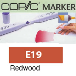 ROTULADOR <b>COPIC MARKER 'E19' REDWOOD</b>