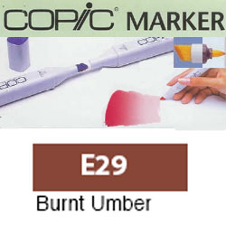 ROTULADOR <b>COPIC MARKER 'E29' BURNT UMBER</b>