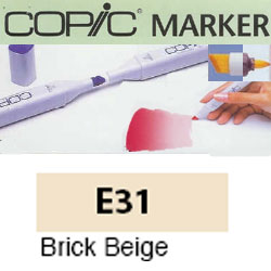 ROTULADOR <b>COPIC MARKER 'E31' BRICK BEIGE</b>