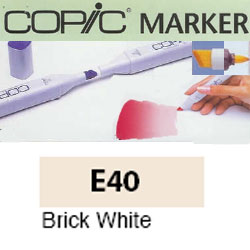 ROTULADOR <b>COPIC MARKER 'E40' BRICK WHITE</b>