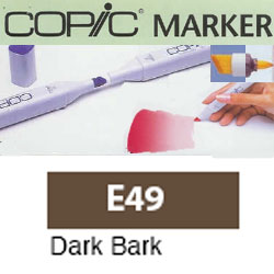 ROTULADOR <b>COPIC MARKER 'E49' DARK BARK</b>