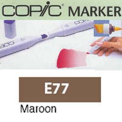 ROTULADOR <b>COPIC MARKER 'E77' MAROON</b>