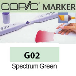 ROTULADOR <b>COPIC MARKER 'G02' SPECTRUM GREEN</b>