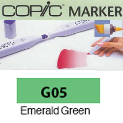 ROTULADOR <b>COPIC MARKER 'G05' EMERALD GREEN</b>