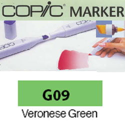 ROTULADOR <b>COPIC MARKER 'G09' VERONESE GREEN</b>
