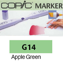 ROTULADOR <b>COPIC MARKER 'G14' APPLE GREEN</b>
