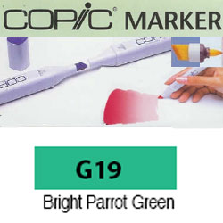 ROTULADOR <b>COPIC MARKER 'G19' BRIGHT PARROT GREEN</b>