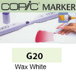 ROTULADOR <b>COPIC MARKER 'G20' WAX WHITE</b>