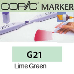 ROTULADOR <b>COPIC MARKER 'G21' LIME GREEN</b>