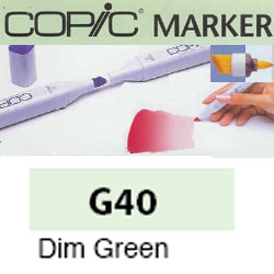 ROTULADOR <b>COPIC MARKER 'G40' DIM GREEN</b>