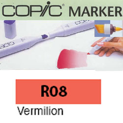 ROTULADOR <b>COPIC MARKER 'R08' VERMILION</b>