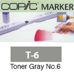 ROTULADOR <b>COPIC MARKER 'T06' TONER GRAY</b>