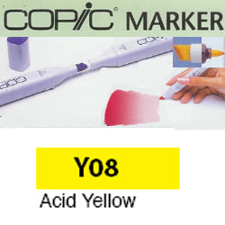 ROTULADOR <b>COPIC MARKER 'Y08' ACID YELLOW</b>
