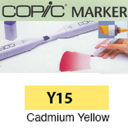 ROTULADOR <b>COPIC MARKER 'Y15' CADMIUM YELLOW</b>