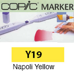 ROTULADOR <b>COPIC MARKER 'Y19' NAPOLI YELLOW</b>