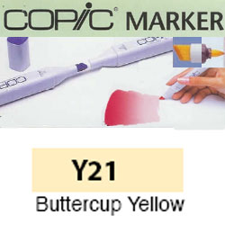 ROTULADOR <b>COPIC MARKER 'Y21' BUTTERCUP YELLOW</b>