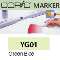 ROTULADOR <b>COPIC MARKER 'YG01' GREEN BICE</b>