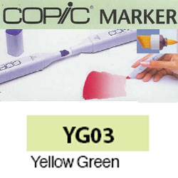 ROTULADOR <b>COPIC MARKER 'YG03' YELLOW GREEN</b>