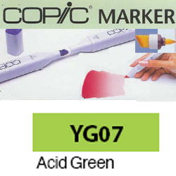 ROTULADOR <b>COPIC MARKER 'YG07' ACID GREEN</b>