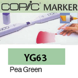ROTULADOR <b>COPIC MARKER 'YG63' PEA GREEN</b>