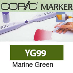 ROTULADOR <b>COPIC MARKER 'YG99' MARINE GREEN</b>
