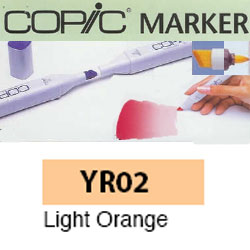 ROTULADOR <b>COPIC MARKER 'YR02' LIGHT ORANGE</b>