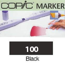 ROTULADOR <b>COPIC MARKER '100' BLACK</b>