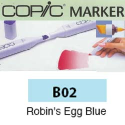 ROTULADOR <b>COPIC MARKER 'B02' ROBIN'S EGG BLUE</b>