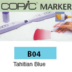 ROTULADOR <b>COPIC MARKER 'B04' TAHITIAN BLUE</b>