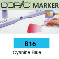 ROTULADOR <b>COPIC MARKER 'B16' CYANINE BLUE</b>