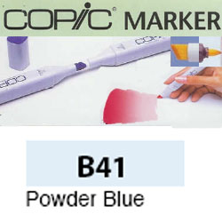 ROTULADOR <b>COPIC MARKER 'B41' POWDER BLUE</b>