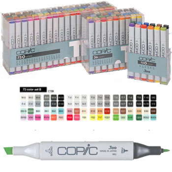 CAJA 72 ROTULADORES 'COPIC MARKER' GAMA 2
