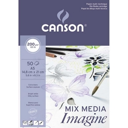 BLOC 'CANSON IMAGINE' DIN A4 MULTITÉCNICA 200gr. 50h.