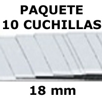 PAQUETE 10 CUCHILLAS 18mm. 'MAPED'