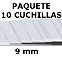 PAQUETE 10 CUCHILLAS 9mm. 'MAPED'