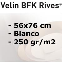 PAPEL DE GRABADO RIVES 250gr. BLANCO 56x76 cm.