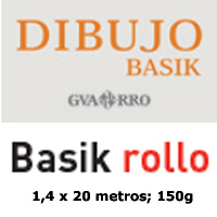 ROLLO DE PAPEL BASIK GUARRO 130gr. 1,40x20m.